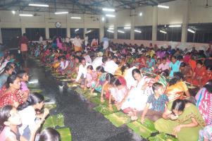 Annadana (Feeding the Devotees)