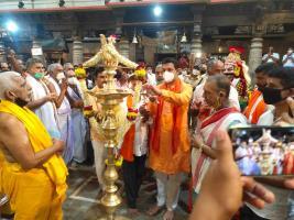 Ayodhya Rama janmabhoomipooja celebration in Kateel Temple today (05.08.2020)