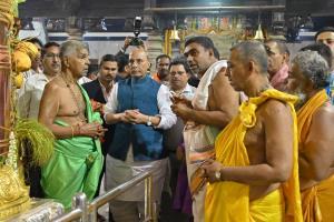 ಕಟೀಲಿಗೆ ಬಂದ ಕೇಂದ್ರ ರಕ್ಷಣಾ ಸಚಿವ ರಾಜಾನಾಥ್ ಸಿಂಗ್